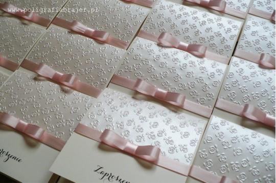 ZT 9 Zaproszenia ślubne tłoczone