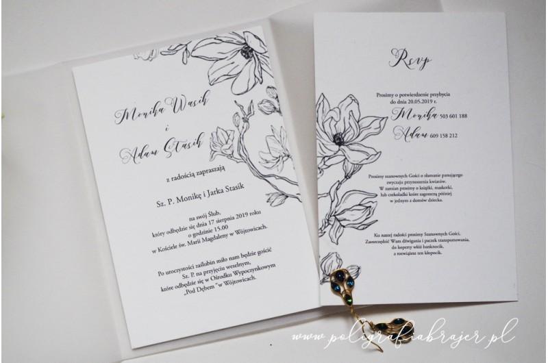 Zaproszenia kwiatowe ilustrację