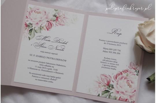 Zaproszenia ślubne z motywem piwonii