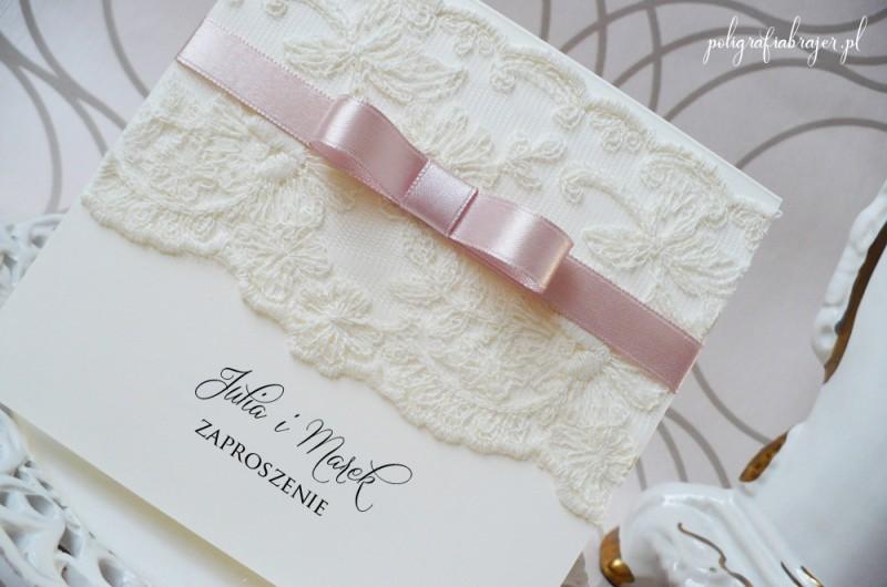 Zaproszenia ślubne koronkowe