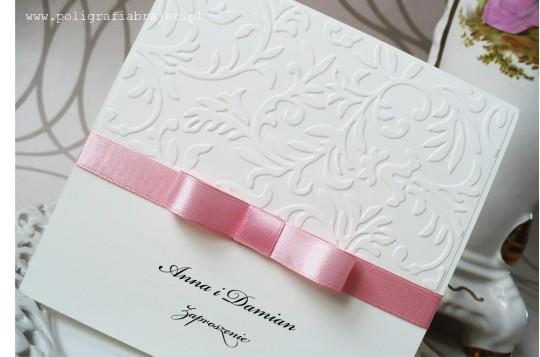 ZT 6 Zaproszenia ślubne tłoczone