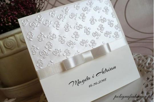 Zaproszenia ślubne tłoczone