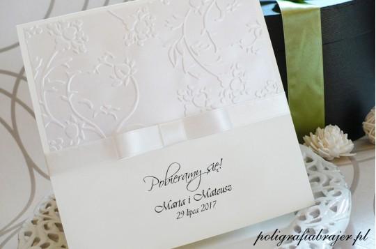 ZT 11 Zaproszenia ślubne tłoczone
