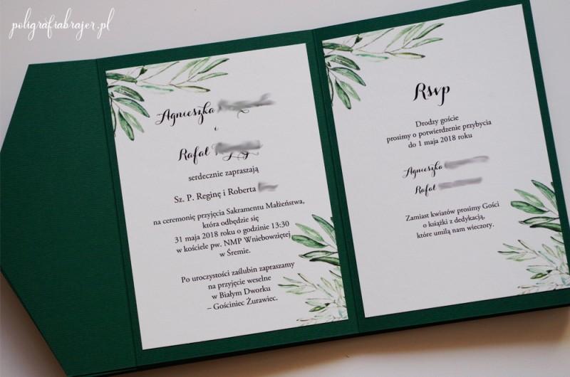 Zaproszenie ślubne kopertowe 2