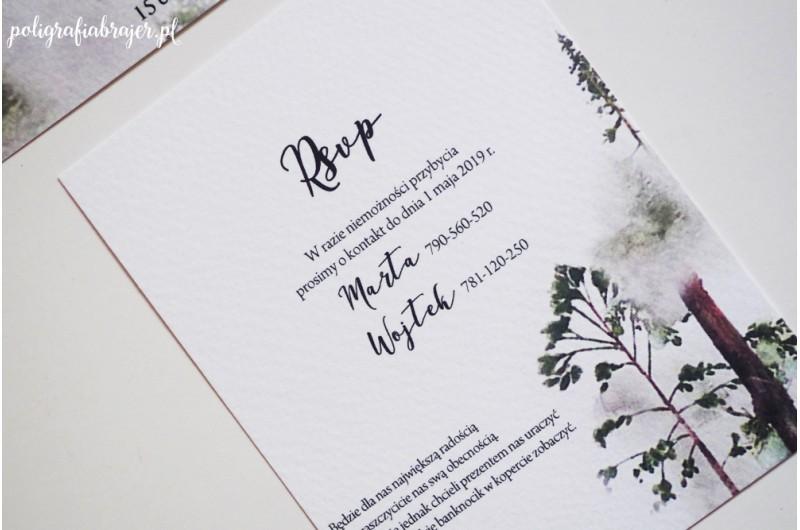 Zaproszenia z motywem lasu