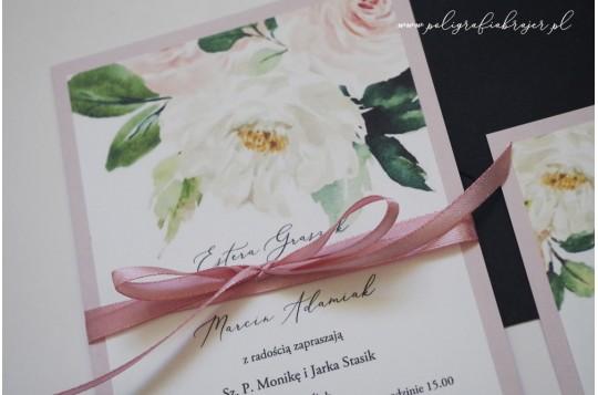 Zaproszenia z motywem kwiatów 15