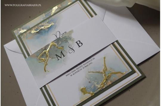 Zaproszenia marmur