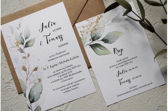 Zaproszenie z eukaliptusem