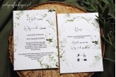Zaproszenie ślubne z motywem zielonej gałązki