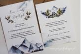 Zaproszenie ślubne góry