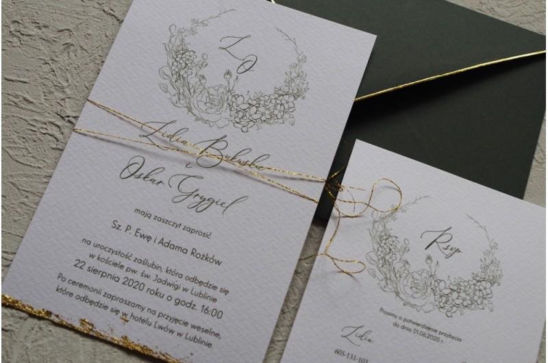 Zaproszenie rysowane kwiaty