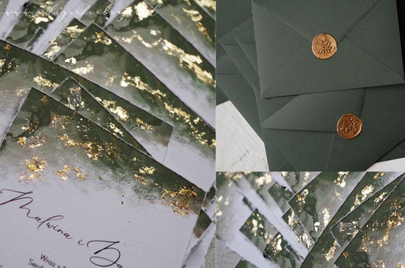 Zaproszenia Green Gold