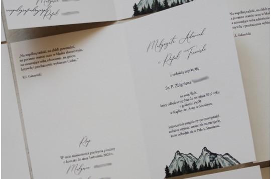Zaproszenia MOUNTAIN