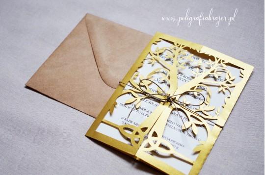 Zaproszenia ślubne z motywem drzewa