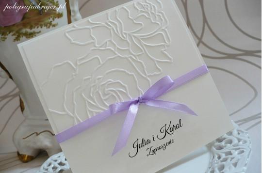 ZT 3 Zaproszenia ślubne tłoczone